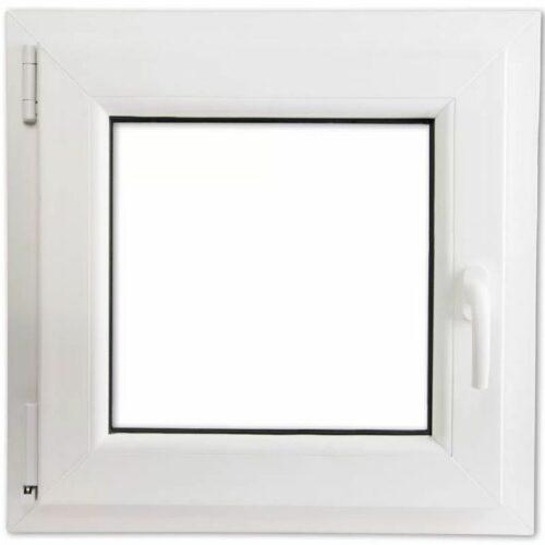 Окно ПВХ одностворчатое поворотно-откидное двухкамерное