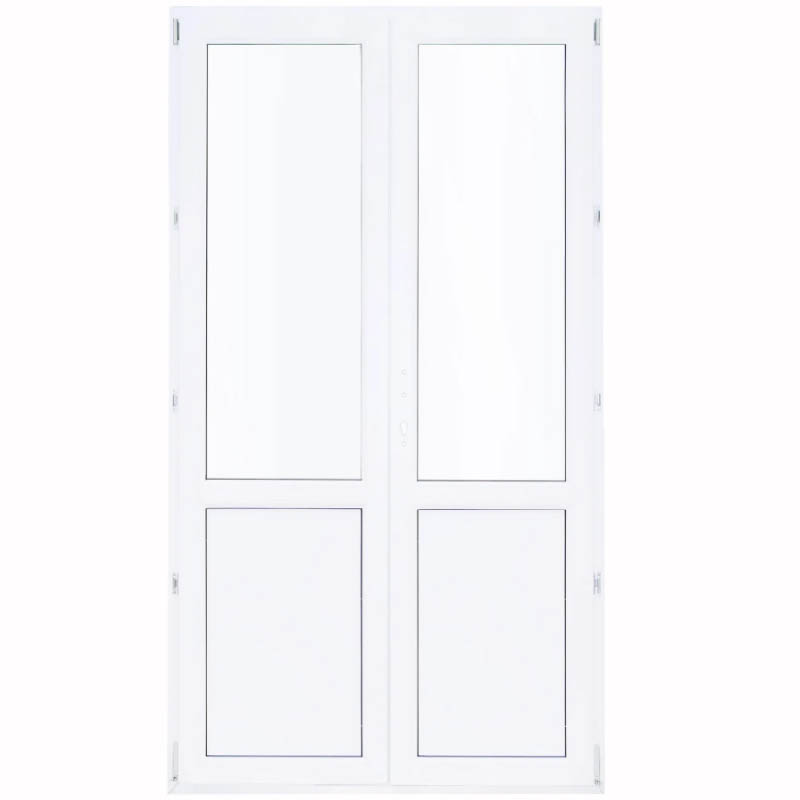 Дверь балконная ПВХ двухстворчатая штульповая